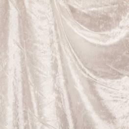 Tissu panne de velours - Blanc cassé