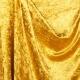 Tissu panne de velours - Jaune