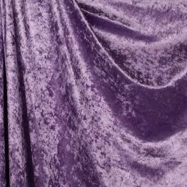 Tissu panne de velours - Violet lila