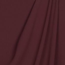 Tissu crêpe uni - Bordeaux