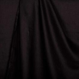 Tissu lin lavé uni noir - Tissu 100% biologique