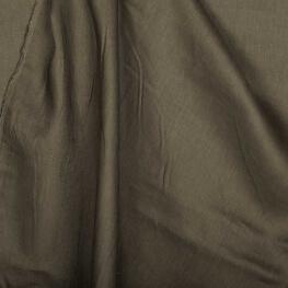 Tissu lin lavé uni marron - Tissu 100% biologique