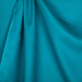 Tissu lin lavé uni bleu turquoise - Tissu 100% biologique