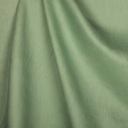 Tissu lin lavé uni camée vert - Tissu 100% biologique