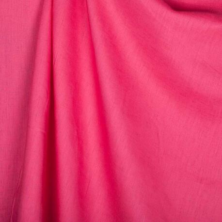Tissu lin lavé uni rose fuchsia - Tissu 100% biologique