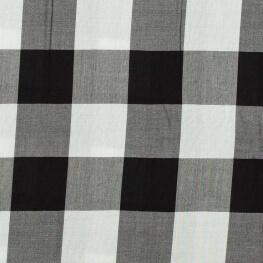 Tissu viscose grands carreaux - Noir & blanc