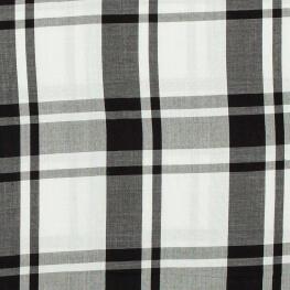 Tissu viscose à carreaux - Noir & blanc