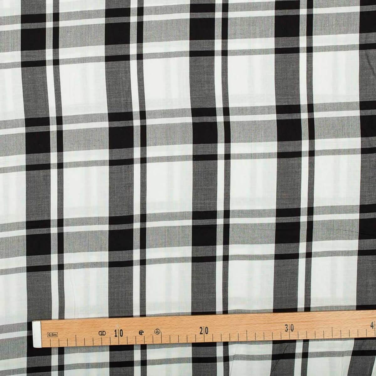 tissu viscose carreaux noir blanc. Black Bedroom Furniture Sets. Home Design Ideas