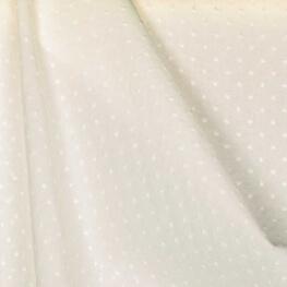Tissu coton plumetis uni - Ecru