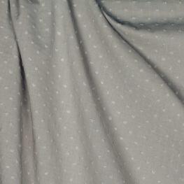 Tissu coton plumetis uni - Beige naturel