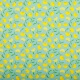 Tissu coton enduit citron jaune - Bleu