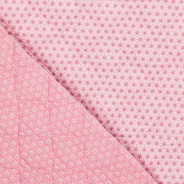 Tissu piqué de coton matelassé étoiles asahona rose