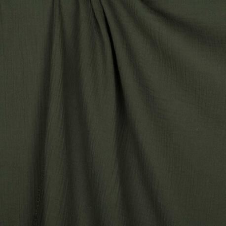 Tissu coton double gaze - Vert