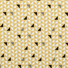 Tissu coton pretty triangles - Jaune