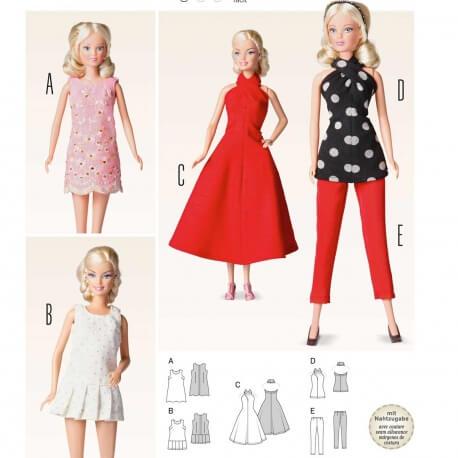 Patron habits de poupée - Burda 6960