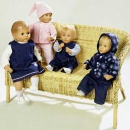 Patron habits de poupée assortis- Burda 8591