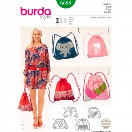 Patron de sacs baluchons, sacs à dos - Burda 6688
