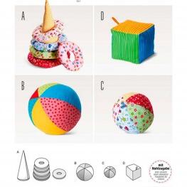 Patron jouets pour bébé - Burda 6561