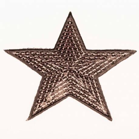 Ecusson étoiles à sequin - Cuivre