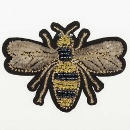Ecusson velours 3D & perlé - Abeille petit insecte