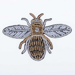Ecusson insecte scintillant - Abeille doré & argent