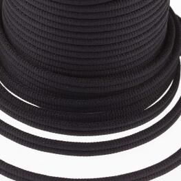 Galon passementerie double cordon - Noir