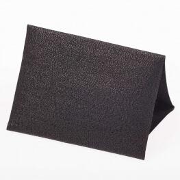 Toile thermocollante aspect lamé - Noir brillant
