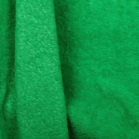 Tissu éponge vert gazon