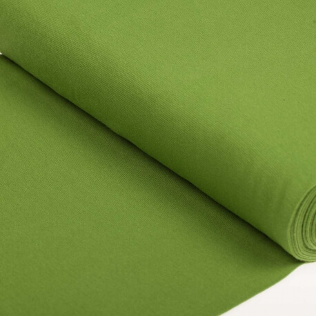 Tissu bord-côte tubulaire maille jersey - Vert