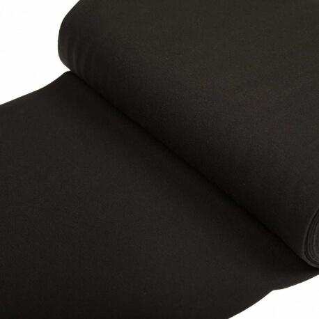 Tissu bord-côte tubulaire maille jersey - Noir