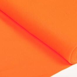 Tissu bord-côte tubulaire maille jersey - Orange vif