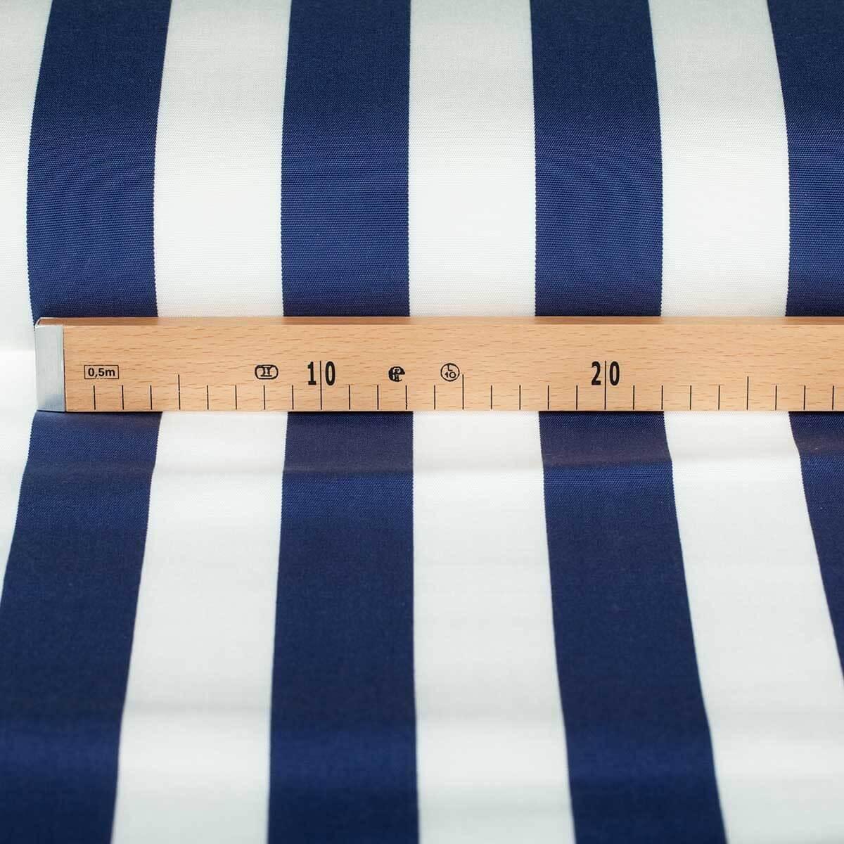 toile tissu d 39 ext rieur pour transat bleu blanc largeur 43cm. Black Bedroom Furniture Sets. Home Design Ideas