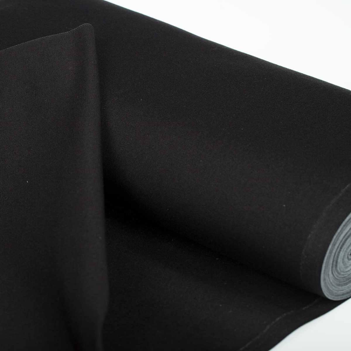 Toile tissu d 39 ext rieur pour transat noir largeur 43cm for Tissu pour exterieur