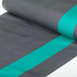 Tissu toile d'extérieur transat - Largeur 45cm - Gris rayure lagon