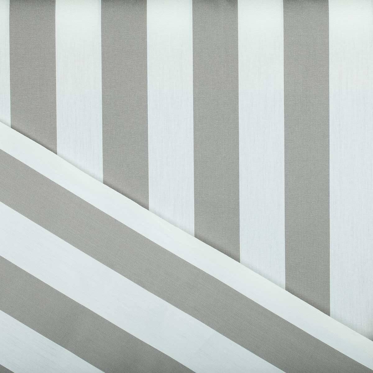 toile outdoor tissu sunny bayadere largeur 160cm gris blanc. Black Bedroom Furniture Sets. Home Design Ideas