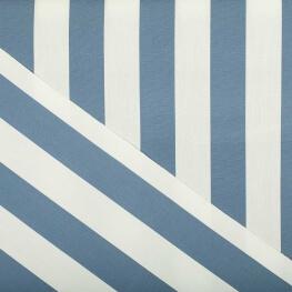 Tissu toile d'extérieur - Largeur 160cm - Rayures bleu & blanc