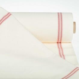 Tissu pour torchon pur coton - Rouge