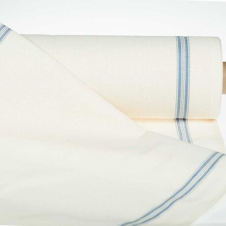 Tissu pour torchon pur coton - Bleu