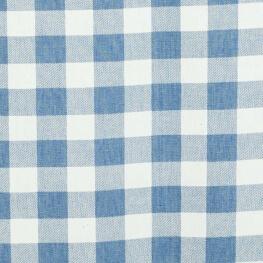 Tissu vichy denim - Bleu light