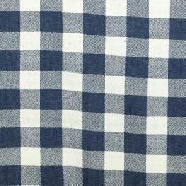 Tissu vichy denim - Bleu dark
