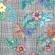 Tissu à carreaux & fleurs - Tropical multicolore