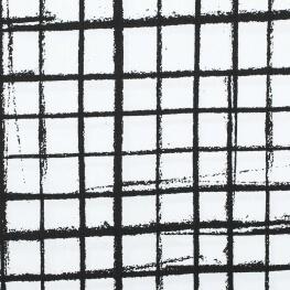 Tissu popeline coton graphic carreaux - Bicolore