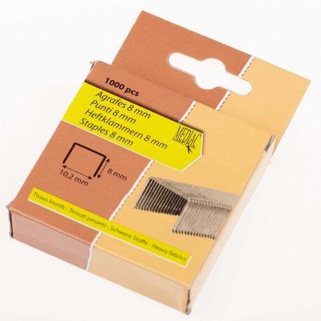 Agrafes tissus - 8mm