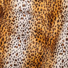 Tissu peau de léopard fine fourrure