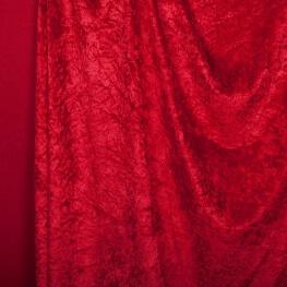 Tissu panne de velours - Rouge