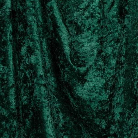 Tissu panne de velours - Vert bouteille