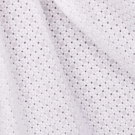 Tissu broderie anglaise little square - Blanc