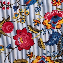 Tissu viscose spring big flowers - Multicolore