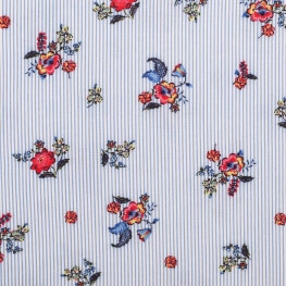 Tissu viscose spring little flowers - Multicolore