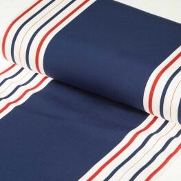 Tissu toile d'extérieur transat - Largeur 43cm - Rayures marinière